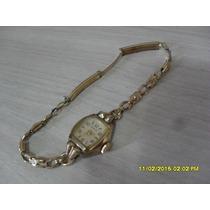 Lindo Relógio-jóia Benrus Folheado A Ouro, Anos 1950