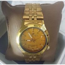 Relógio Tecnet Ouro Luxo - Dourado