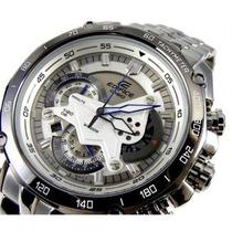 Relógio Casio Edifice Ef-550d-7av Esportivo Branco Original