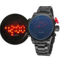 Relógio Importado Feiyu Digital/analógico Aço