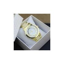 Relógios Rhinestone Marca De Luxo Dkg Pulseira Quartzo