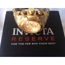Relógio Invicta Reserve Bolt Zeus 12738 Plaque Ouro Oferta!