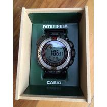 Relogio Casio Pathfinder Triple Sensor - Bateria Solar