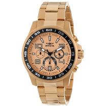 Relógio Invicta Original Dourado 14392 Chronograph Ouro 18k