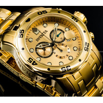 Relógio Invicta Original Subaqua 0074 Chronograph Ouro 18k