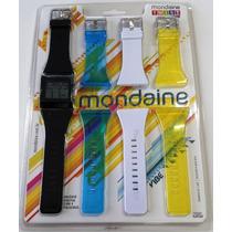 Relógio Mondaine Twist Vibe Troca Puleiras 94410l0mcnp1 Pt