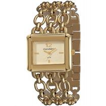 Relógio Mondaine Feminino Clássico Dourado 94591lpmndm1