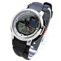 Aqf-102w-7bvdf Relógio Casio Outgear Com Termômetro