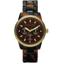 Relógio Luxo Michael Kors Mk5038 Orig Chron Anal Tortoise!!!