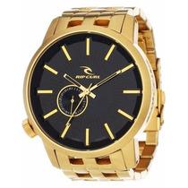 Relógio Rip Curl Detroit Gold Dourado / Novo Na Caixa