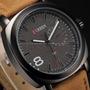 Relógio Curren Couro Sintético Prova D