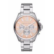 Relógio Michael Kors Wren Mk5837 Lançamento Pêssego Completo