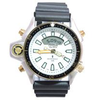Relógio Masculino Citzem Aqualand Prata E Branco Jp2004