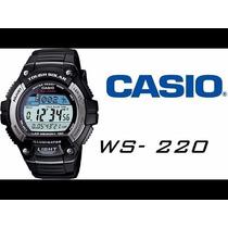 Relógio Casio 5 Alarmes Energia Solar Wr 100m W-s220-1avdf