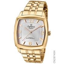 Relógio Dourado Masculino Champion Cn28740h Garantia 1 Ano