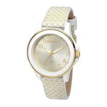 Relógio Feminino Mormaii Mauí Mo2035cp/8x - Branco/ Doura...