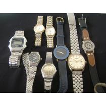 Lote De 08 Relógios De Pulso Diversas Marcas