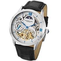 Relógio Stuhrling Original Couro Fundo Branco Automatico