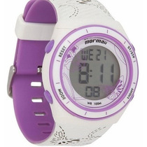 Relógio Mormaii Digital Branco/lilás