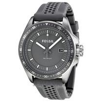 Relógio Masculino Fossil Aço Pulseira De Borracha Fam4387z