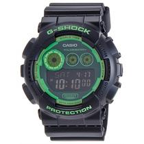 Relógio G-shock Gd-120n-1b3dr Big Case Black Green