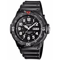 Relógio Casio Mergulho Mrw-200 H-1b Calendário Wr100 Mt P/b