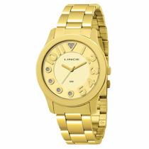 Relógio Lince Orienr Feminino Dourado Lrgj011l C2kx Novo
