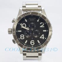 Relógio Nixon 51-30 Chrono Prata Preto Original Frete Grátis