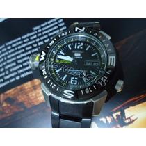 Seiko Sports 5 Diver Black Pvd Automatico Skz321