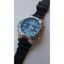 Relógio Citizen Aqualand Duplex Duas Janelas Bj1060