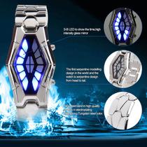 Relógio Masculino De Serpente Luxuoso C Luz De Led