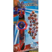 Relógio Spiderman Homem Aranha Com Projetor De Imagens