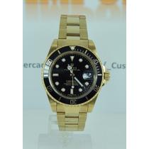 Relógio Submariner Rolx Perpetual Preto/dourado Oyster Cores
