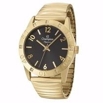 Relógio Champion Fundo Preto Dourado Cn27849u Original