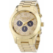 Relógio Michael Kors Mk5830 Layton Gold Strass 5x Sem Juros