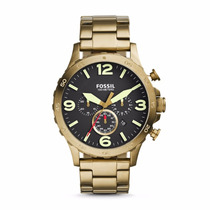 Relógio Fossil Nate Aço Jr1493/4pn Original Garantia 2 Anos