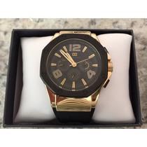 Relógio Tommy Hilfiger Eton Dourado Masculino Novo