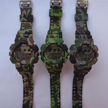 Relógio Masculino Anti Shock Militar Camuflado Frete Grátis