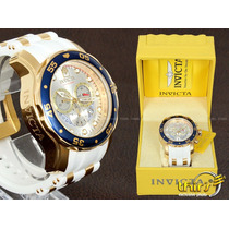 Invicta Pro Diver Original - 20293 Branco - Banhado Ouro 18k