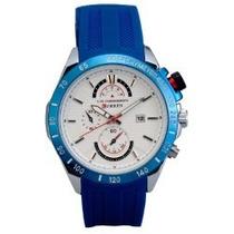 Relógio Curren Original 8148 Branco E Azul Novo Frete Grátis