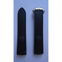 Pulseira Relógio Omega 20mm Preta Borracha Deployan Silicone