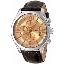 Relógio Masculino Guess Cronógrafo Brown Croco-grain