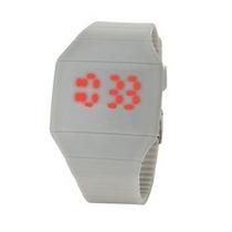 Relógio Digital Led Cinza - Preço Exclusivo Aproveite Rápido