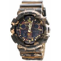 Relógio Casio G-shok Camuflado Ga-100cm-5a - Garantia E Nf