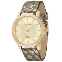 Relógio Feminino Mondaine - Pulseira De Couro - 12005lpmvdh1