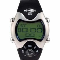 Relógio Estilo Mormaii Com Bussola Esportivo