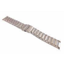 Pulseira Aço Robusta Terminal Reto 22mm P/ Relógio [g2]