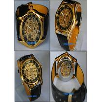 Relógio Skeleton Winner Semi Automático Importado Luxuoso