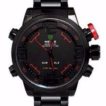 Relógio Pulso Weide Sports Led Digital E Analógico Wh2309-3