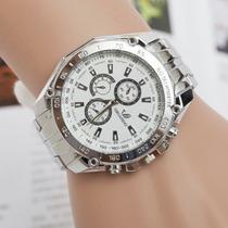 Relógio Masculino Aço Inoxidável Quartz Analógico